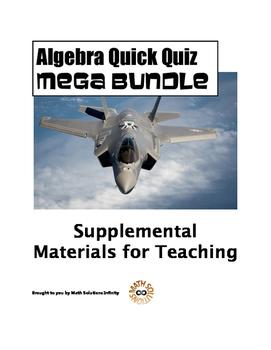 Algebra Quick Quiz MEGA BUNDLE