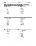 Algebra Quick Quiz - Simplifying Rational Expressions with Arithmetic