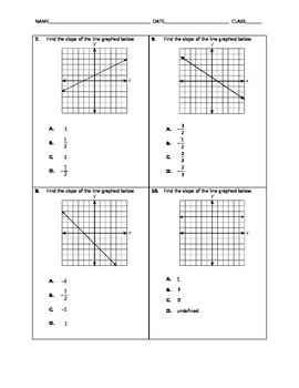 Algebra Quick Quiz - Slope