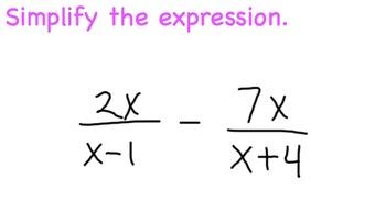 Rational Expressions Unlike Denominators