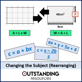 Algebra: Re-arranging Formula / changing the subject (ideal for grades 7 to 12)