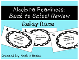"Algebra Readiness: Back to School Review ""Relay Race"""
