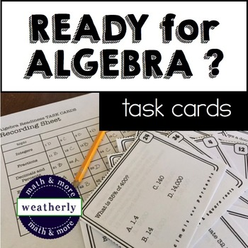 Algebra Readiness Diagnostic Test Worksheets Teaching