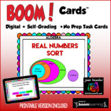 Algebra Real Numbers Sort with BOOM Cards