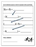 Algebra Relay Race - Distributive Property
