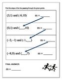 Algebra Relay Race - Finding Slope