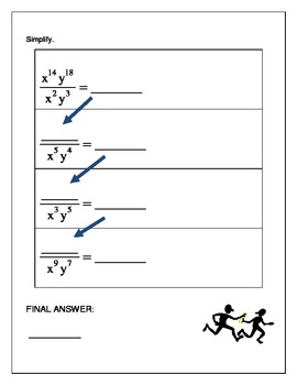 Algebra Relay Race - Full Collection