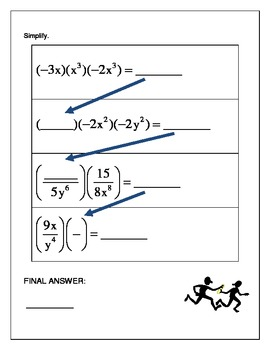 Algebra Relay Race - Multiplying and Dividing Real Numbers