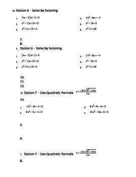 Algebra Review 2- focus on factoring and quadratics