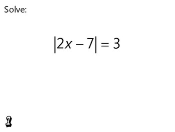 Algebra Review Activity - Absolute Value Equations & Inequalities