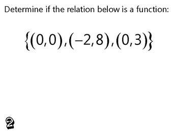 Algebra Review Activity - Identifying Functions