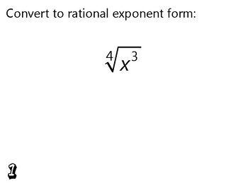 Algebra Review Activity - Radicals & Rational Exponents