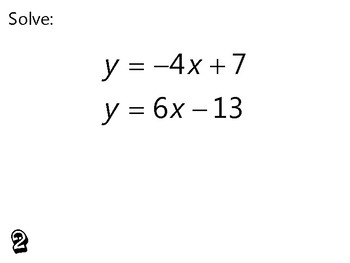 Algebra Review Activity - Systems of Equations
