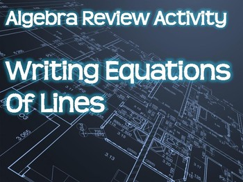 Algebra Review Activity - Writing Equations of Lines