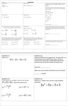 Algebra Review - Bundle