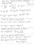 Algebra Review : Exponential and Logarithm Functions
