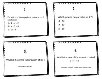 Algebra Review Exponents Prime Factorization Order of Operations Expressions
