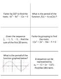 Algebra Review Flip Cards