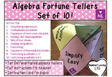Algebra, Ten Review Fortune Teller/Cootie Catchers