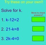 Algebra Review Game