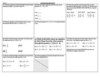 Algebra Review - Linear Equations