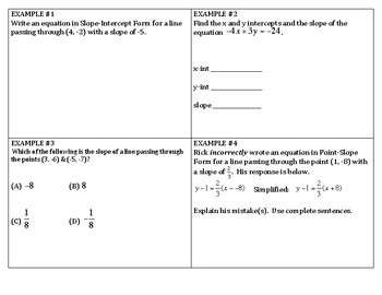 Algebra Review - Linear Equations