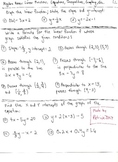 Algebra Review : Linear Functions / Graphing / Equations / Inequalities