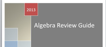 Algebra Review Packet: covers a broad range of topics