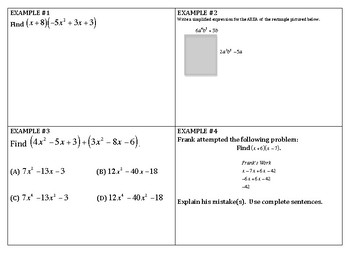 Algebra Review - Polynomials