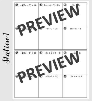 Algebra Review Station Activity (Equations/Inequalities/ Word Problems)