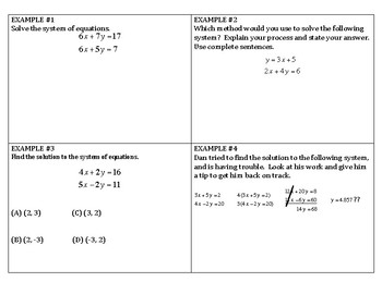 Algebra Review - Systems of Equations