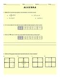 Algebra Review for EOC or EOG