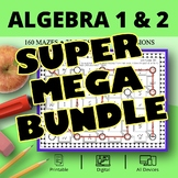Algebra SUPER MEGA BUNDLE: Maze Activity Sets - Distance L