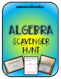 Algebra Scavenger Hunt