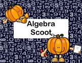 Algebra Scoot-Solving Equations Using All 4 Operations