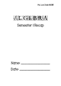 Algebra Semester 1 Review