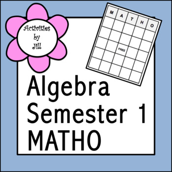 Algebra Semester 1 Review MATHO
