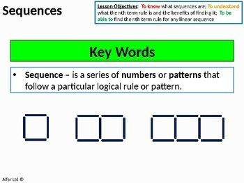 Algebra: Sequences 1 - Introduction to Linear Sequences (+ resources)