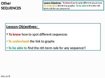 Algebra: Sequences 4 - Cubic, Exponential and Other Sequences / Problems