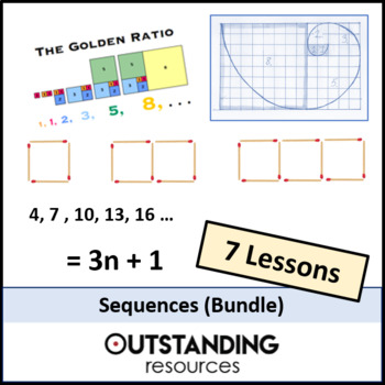 Algebra: Sequences Bundle (6 Lessons) + resources