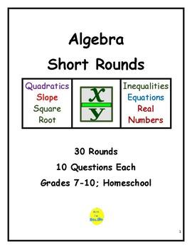Algebra Short Rounds