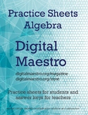 Algebra Single Variable Practice Sheets