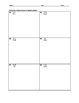 Algebra Skill Builder - Complex Number Operations