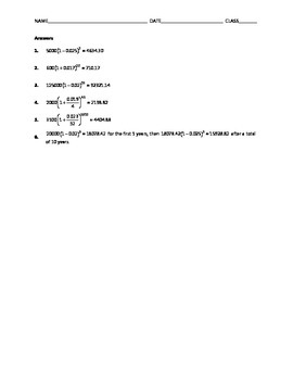 Algebra Skill Builder - Exponential Growth and Decay Word Problems