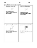 Algebra Skill Builder - Linear Programming