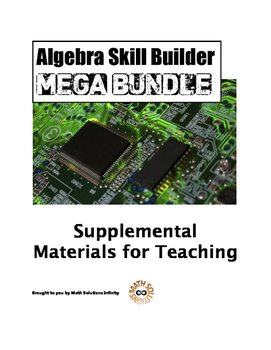 Algebra Skill Builder MEGA BUNDLE