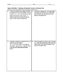Algebra Skill Builder - Modeling with Quadratic Functions in Standard Form