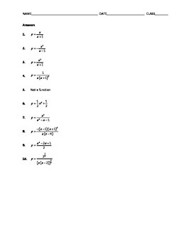 Algebra Skill Builder - Solving Equations for y