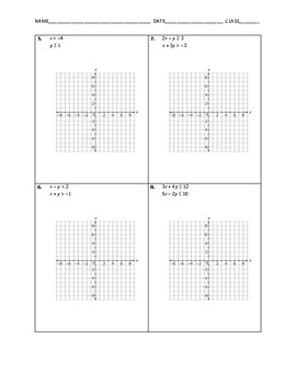 Algebra Skill Builder - Solving Systems of Linear Inequalities