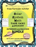 Expressions and Equations Solar System Math Task Card Acti